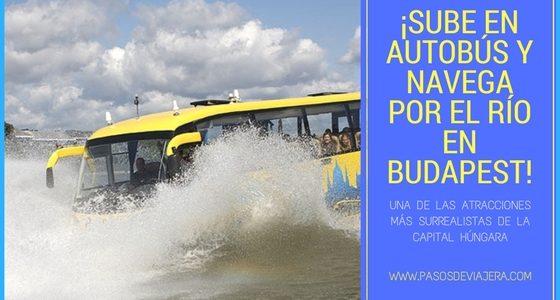 ¡Sube a un autobús y navega por el río en Budapest!