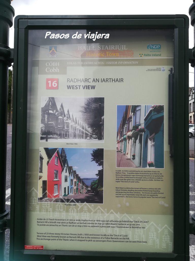 cartel información cobh pasos de viajera