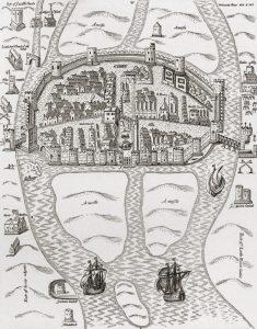 Foto de la ciudad Cork en Irlanda mapa antiguo
