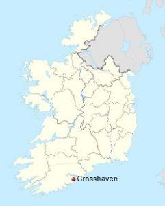 Crosshaven location in Ireland